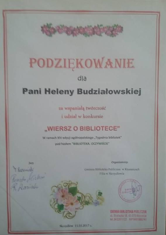Gimnna Biblioteka Publiczna W Kłomnicach Wyniki Konkursu